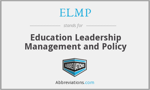 What does ELMP stand for?