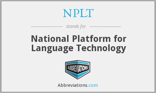 What does NPLT stand for?