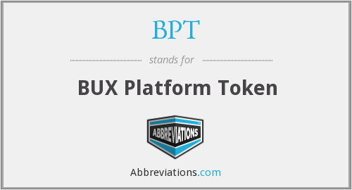 BPT - BUX Platform Token