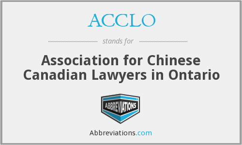 ACCLO - Association for Chinese Canadian Lawyers in Ontario
