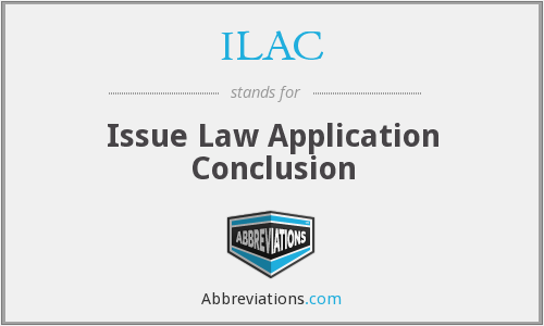 ILAC - Issue Law Application Conclusion