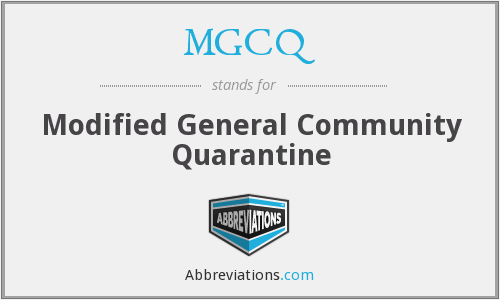What does MGCQ stand for?