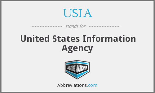USIA - United States Information Agency