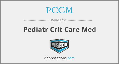 PCCM - Pediatr Crit Care Med
