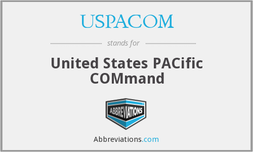 USPACOM - United States PACific COMmand