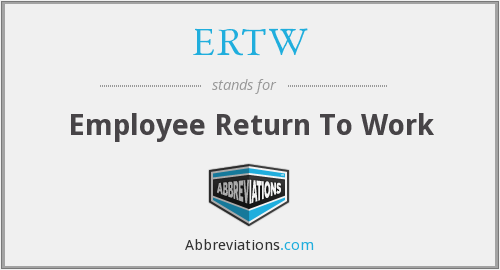 What does ERTW stand for?