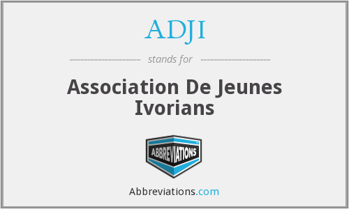 What does ADJI stand for?