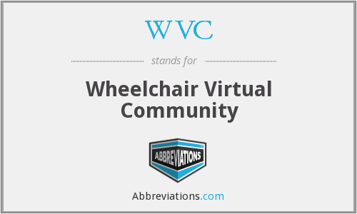WVC - Wheelchair Virtual Community