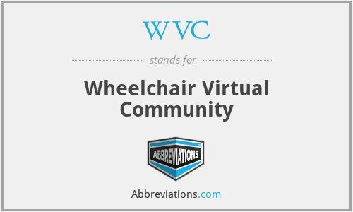 WVC - Wheelchair Virtual Community