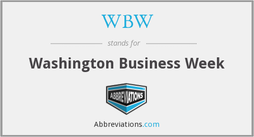 WBW - Washington Business Week