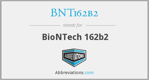What does BNT162B2 stand for?
