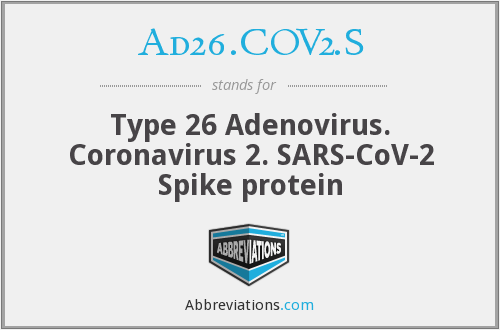 What does AD26.COV2.S stand for?