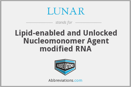 LUNAR - Lipid-enabled and Unlocked Nucleomonomer Agent modified RNA