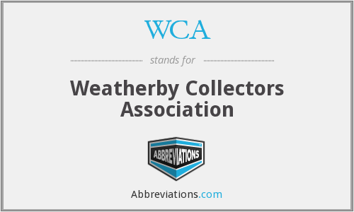 WCA - Weatherby Collectors Association