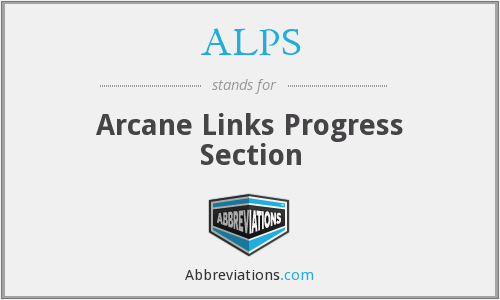 ALPS - Arcane Links Progress Section
