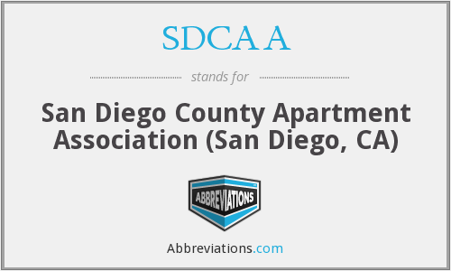 What does SDCAA stand for?