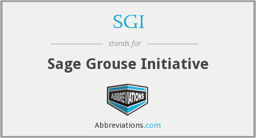 SGI - Sage Grouse Initiative