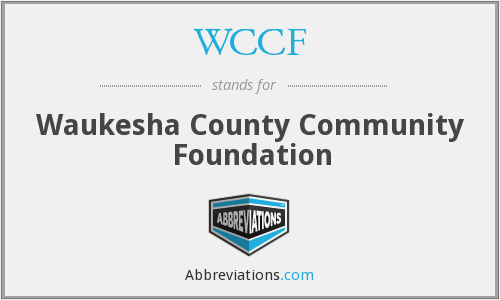 WCCF - Waukesha County Community Foundation