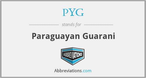 PYG - Paraguayan Guarani