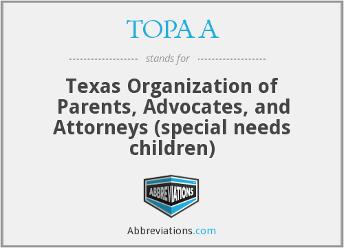 What does TOPAA stand for?