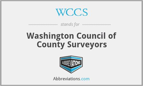 WCCS - Washington Council of County Surveyors