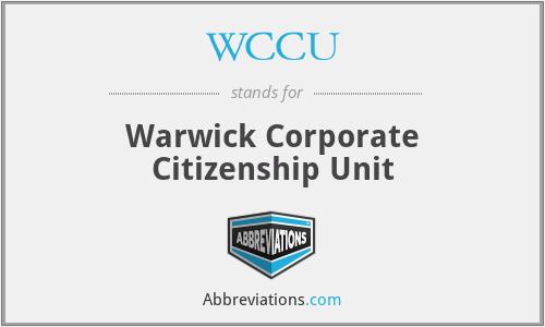 WCCU - Warwick Corporate Citizenship Unit