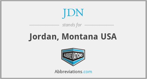 JDN - Jordan, Montana USA