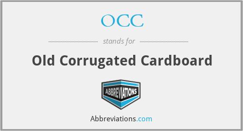 OCC - Old Corrugated Cardboard