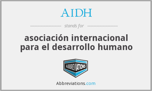 What does AIDH stand for?