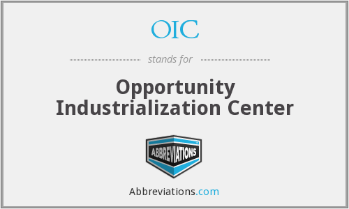 OIC - Opportunity Industrialization Center