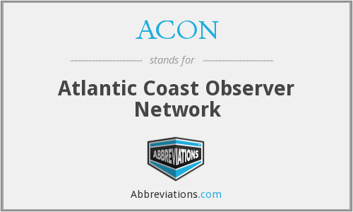 ACON - Atlantic Coast Observer Network