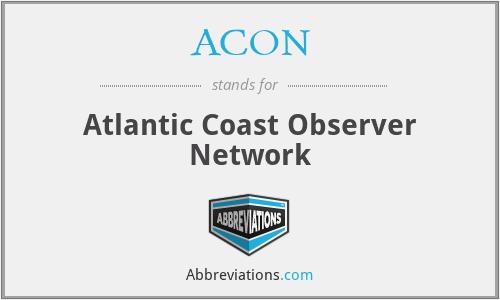 ACON - Atlantic Coast Observer Network