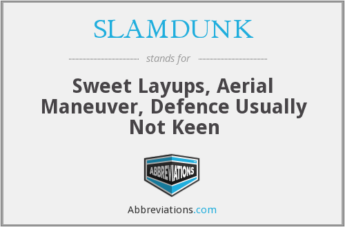 SLAMDUNK - Sweet Layups, Aerial Maneuver, Defence Usually Not Keen