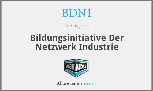 BDNI - Bildungsinitiative Der Netzwerk Industrie