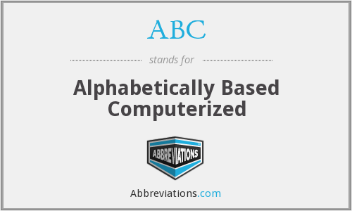 ABC - Alphabetically Based Computerized