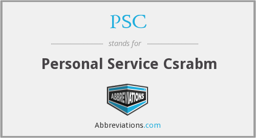 PSC - Personal Service Csrabm