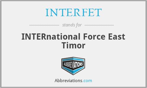 INTERFET - INTERnational Force East Timor