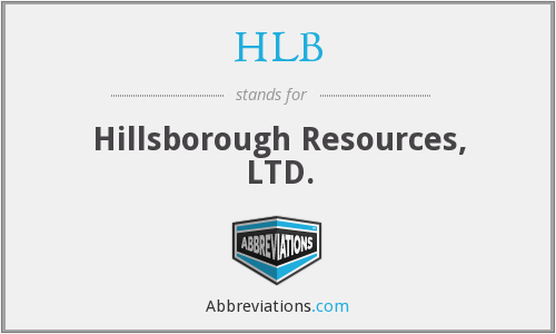 HLB - Hillsborough Resources, LTD.