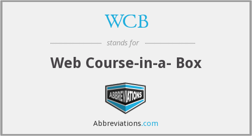 WCB - Web Course-in-a- Box