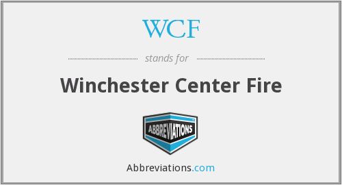 WCF - Winchester Center Fire