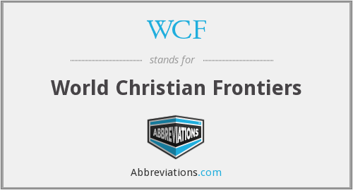 WCF - World Christian Frontiers