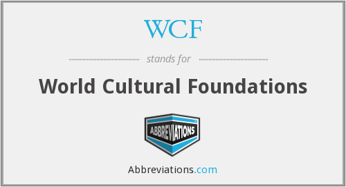 WCF - World Cultural Foundations