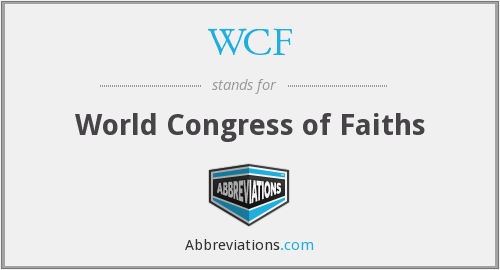 WCF - World Congress of Faiths