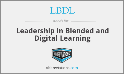LBDL - Leadership in Blended and Digital Learning
