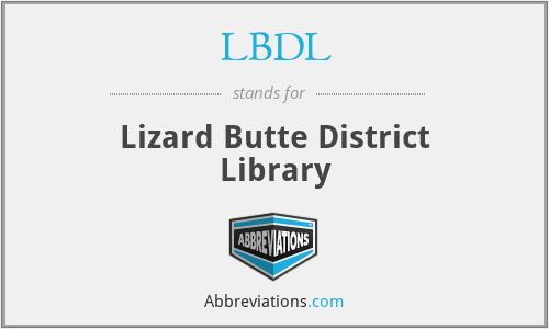 LBDL - Lizard Butte District Library