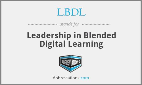 LBDL - Leadership in Blended Digital Learning