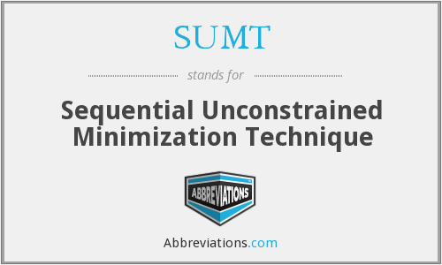 What does SUMT stand for?
