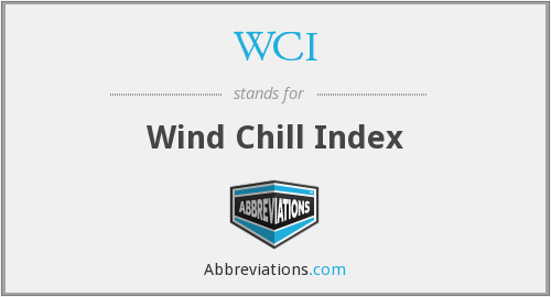 WCI - Wind Chill Index