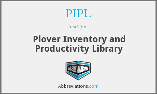 PIPL - Plover Inventory and Productivity Library