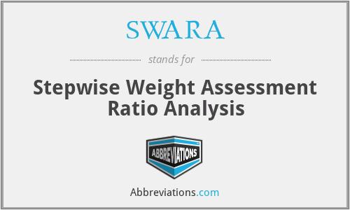 SWARA - Stepwise Weight Assessment Ratio Analysis